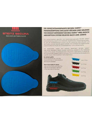 Steitz Secura Vario System Fersendämpfung (Paar) blau