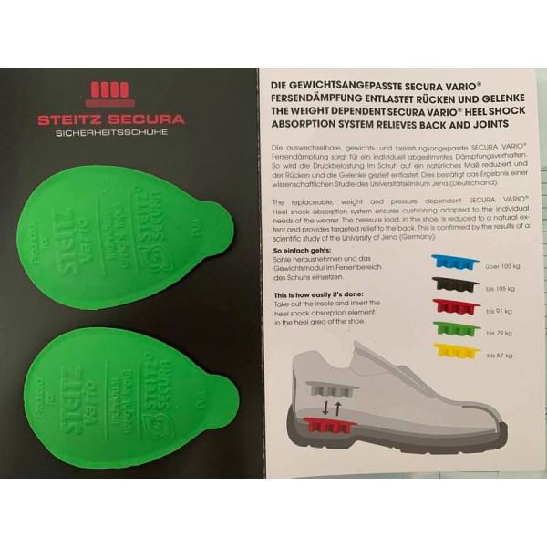 Steitz Secura Vario System Fersendämpfung (Paar) grün